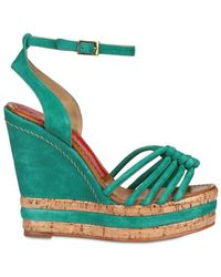 Paloma Barceló 120mm Woven Suede Wedges - Lyst