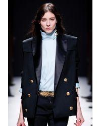 Balmain Black Double Breasted Tuxedo Blazer black - Lyst