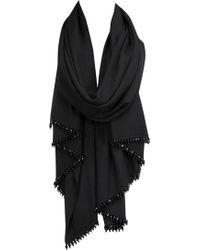 Coast Theresa Short Tassel Wrap black - Lyst