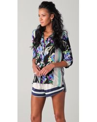 Elizabeth and James - Floral Luxe Pajama Blouse - Lyst