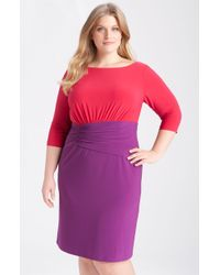 Adrianna Papell Colorblock Jersey Dress - Lyst