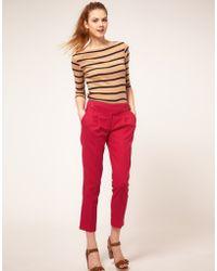 ASOS Collection Asos Linen Peg Trousers - Lyst