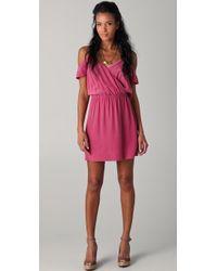 Joie Sari Off-the-shoulder Dress pink - Lyst