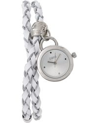 Oasis - Leather Watch With Wrap Around Strap - Lyst