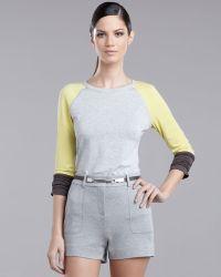 St. John Yellow Label   Long-sleeve Colorblock Tee   Lyst