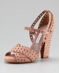Tabitha Simmons Fillippa Perforated Platform Sandal - Lyst