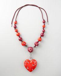 Lanvin Heart Pendant Necklace, 50l - Lyst