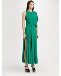 Neil Barrett Asymmetrical Silk Dress - Lyst