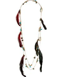 Antik Batik - Multicolor Feather Shell Tribal Necklace - Lyst