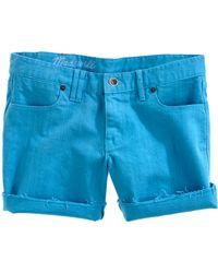 Madewell Garment-Dyed Midi Shorts blue - Lyst