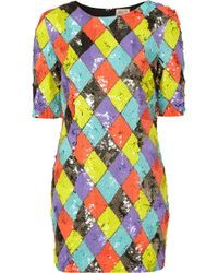 Topshop Harlequin Sequin Dress By Dress Up multicolor - Lyst