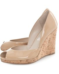 Kors by Michael Kors Vail Patent Leather Cork Wedge - Lyst