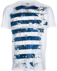 Maesna Striped Printed T-shirt - Lyst