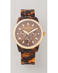 Michael Kors Tortoise Jet Set Sport Watch - Lyst