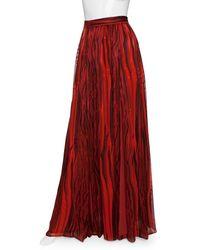 Rachel Zoe - Venessa Print Maxi Skirt - Lyst