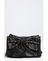 RED Valentino Studded Bow Clutch - Lyst