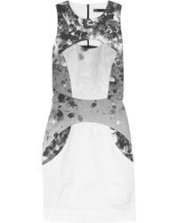 Aminaka Wilmont - Printed Stretch-cotton Mini Dress - Lyst