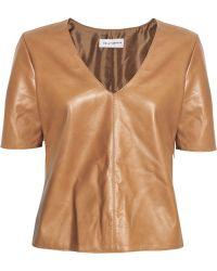 Kelly Bergin Leather Top - Lyst