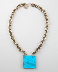 Kelly Wearstler - Square Turquoise Pendant Necklace - Lyst