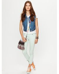 Free People Colored Ankle Crop - Lyst
