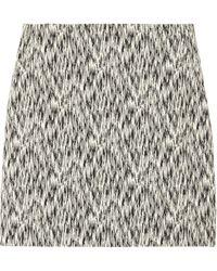 Sandro Joueuse Printed Stretch Cotton-Blend Mini Skirt - Lyst
