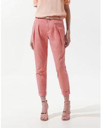 Zara Pleated Trousers - Lyst