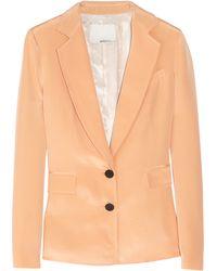 3.1 Phillip Lim Silk Satincrepe Blazer orange - Lyst