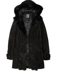 Lot78 - Coco Shearling-trimmed Suede Parka - Lyst