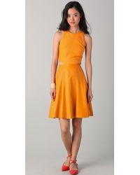 Lyn Devon - Highline Leather Dress - Lyst