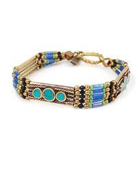 Vanessa Mooney Small Moonshield Bracelet Blue - Lyst