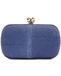 Alexandra De Curtis Rita Box Clutch Blue Salmon - Lyst