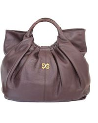 Alexandra De Curtis Alexis Tote Brown Leather - Lyst