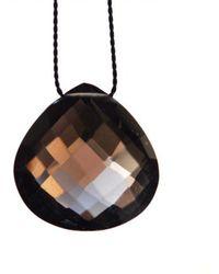 Vivien Frank Designs Solitaire Necklace with Smoky Quartz and Silk - Lyst