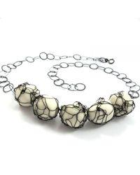 Sari Glassman Black White Pupa Necklace - Lyst