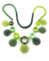 Sari Glassman Ooak Green Scent Necklace - Lyst