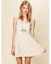Free People Sleeveless Miles Of Lace Dress - Lyst