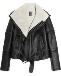 Lot78 - Blake Shearling and Leather Biker Jacket - Lyst