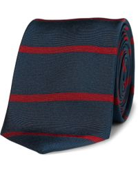 J.Crew | Byrnes Slim Striped Silk Tie | Lyst