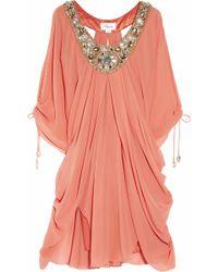 Temperley London - Ellison Embellished Silk-crepe Kaftan - Lyst