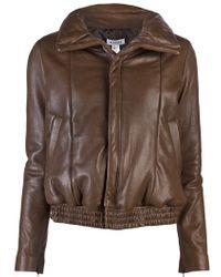 Wayne - Padded Leather Jacket - Lyst