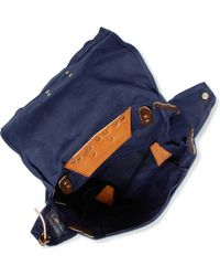 Woolrich - Leather and Canvas Backpack - Lyst
