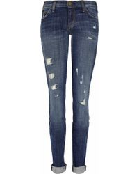 Current/Elliott The Skinny Lowrise Jeans - Lyst