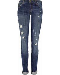 Current/Elliott The Skinny Lowrise Jeans blue - Lyst