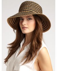 Eric Javits Braid Dame Hat brown - Lyst
