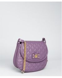 Marc Jacobs Purple Quilted Leather Cooper Chain Crossbody Bag - Lyst