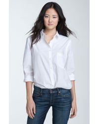 Hinge Boyfriend Relaxed Cotton Shirt - Lyst