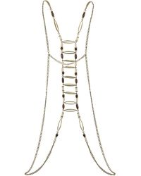 Topshop Oval Bead Bodychain Necklace - Lyst