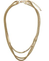 Topshop Flat Snake Chain Multi Row Necklace - Lyst