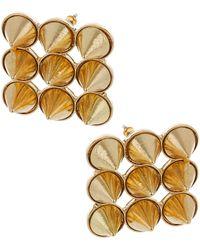 Topshop Resin Spike Square Earrings - Lyst
