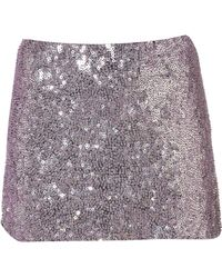 Jaded London - Pink Hologram Sequin Mini Skirt By - Lyst